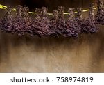 dried wildflowers for rural...   Shutterstock . vector #758974819