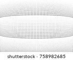 abstract halftone wave dotted... | Shutterstock .eps vector #758982685