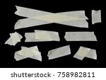 set of various adhesive tape...   Shutterstock . vector #758982811