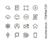 communication icon set.... | Shutterstock .eps vector #758986729