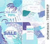 fashion sale and special offer... | Shutterstock .eps vector #758988919