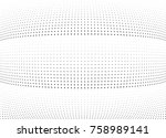 abstract halftone wave dotted... | Shutterstock .eps vector #758989141