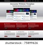 website template   metallic ...