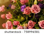 colorful flowers for display or ... | Shutterstock . vector #758996581