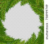 christmas vector tree... | Shutterstock .eps vector #758999749