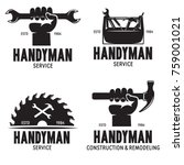 handyman labels badges emblems... | Shutterstock .eps vector #759001021