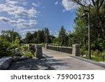 view of beautiful public lake... | Shutterstock . vector #759001735
