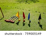 croquet game in the garden on a ...   Shutterstock . vector #759005149