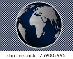 reference map of the world.... | Shutterstock .eps vector #759005995