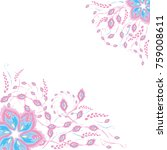 styled flowers on a white... | Shutterstock .eps vector #759008611