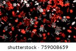 3d illustration of many big and ... | Shutterstock . vector #759008659