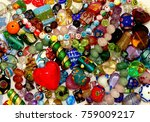 collection of glass beads | Shutterstock . vector #759009217