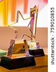 fancy award trophy   Shutterstock . vector #759010855