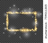 vector golden frame with lights ... | Shutterstock .eps vector #759011305