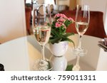 sparkling wine for welcome on... | Shutterstock . vector #759011311