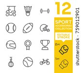 sport accessories collection.... | Shutterstock .eps vector #759012901