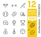 sport accessories collection.... | Shutterstock .eps vector #759013051