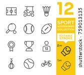sport accessories collection.... | Shutterstock .eps vector #759013135