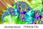 an abstract computer generated... | Shutterstock . vector #759026731