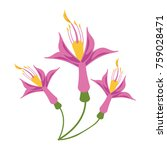beautiful flower symbol | Shutterstock .eps vector #759028471