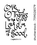 hand lettering give thanks to...   Shutterstock .eps vector #759028579