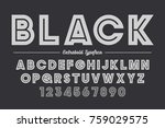 extra bold vector decorative... | Shutterstock .eps vector #759029575