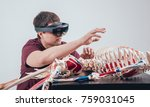 doctor uses augmented reality...   Shutterstock . vector #759031045