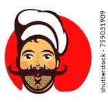mustachioed good cook | Shutterstock .eps vector #759031909