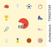 flat icons reward  ball  rugby... | Shutterstock .eps vector #759037339