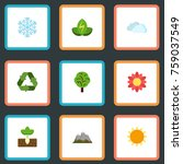 flat icons blossom   winter... | Shutterstock .eps vector #759037549