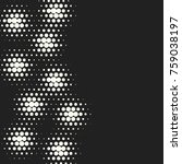 halftone dots. vector black and ... | Shutterstock .eps vector #759038197