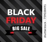 black friday banner sticker sign | Shutterstock .eps vector #759038491