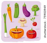 funny vegetables | Shutterstock . vector #75903949