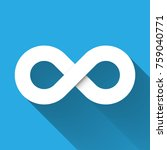infinity symbol icon. concept... | Shutterstock .eps vector #759040771