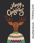 merry christmas vector greeting ... | Shutterstock .eps vector #759041245