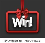 grey win festive sign with red... | Shutterstock .eps vector #759044611