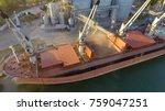 aerial view of big grain... | Shutterstock . vector #759047251