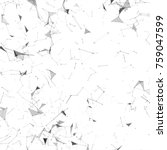abstract background with plexus ... | Shutterstock . vector #759047599