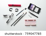 composition with curler and... | Shutterstock . vector #759047785