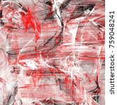 grunge abstract black and red... | Shutterstock . vector #759048241