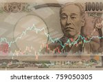 japanese money currency... | Shutterstock . vector #759050305