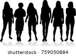silhouette of a woman. | Shutterstock .eps vector #759050884