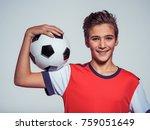 photo of smiling teen boy in... | Shutterstock . vector #759051649
