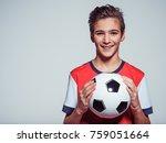 photo of smiling teen boy in... | Shutterstock . vector #759051664