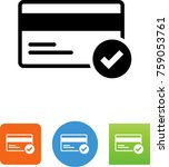 credit card approval icon | Shutterstock .eps vector #759053761