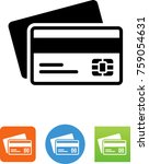 credit cards with magnetic... | Shutterstock .eps vector #759054631