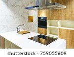 luxurious kitchen with... | Shutterstock . vector #759055609