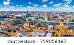 panorama of copenhagen in... | Shutterstock . vector #759056167