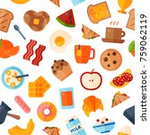 breakfast food healthy vector... | Shutterstock .eps vector #759062119