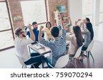 success and team work concept.... | Shutterstock . vector #759070294